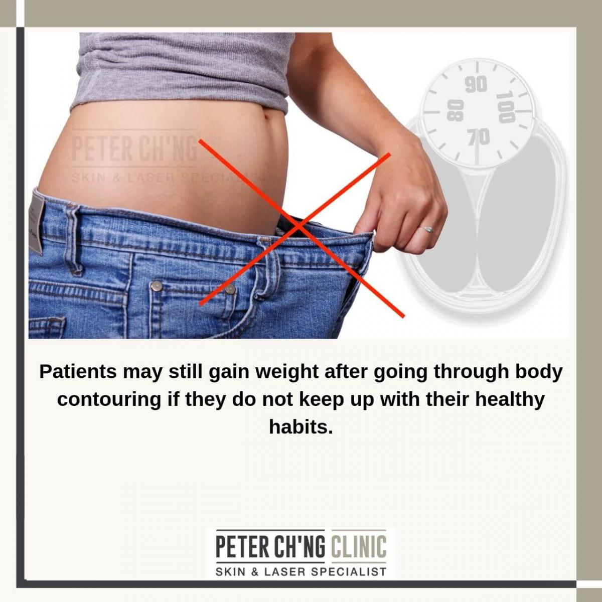 Body contouring prevents weight gain