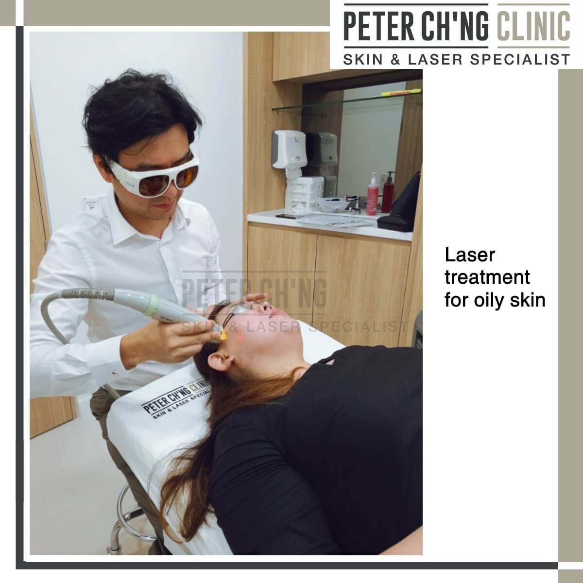 Laser treatment for oily skin
